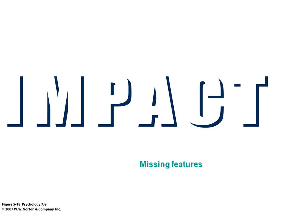 Missing features