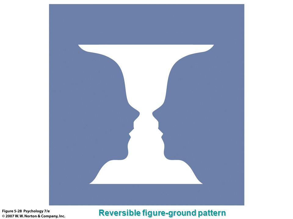 Reversible figure-ground pattern