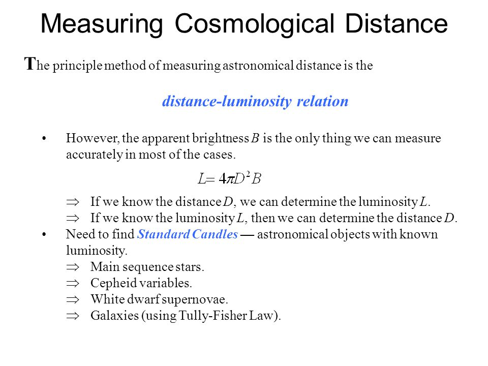 Measuring Cosmological Distance