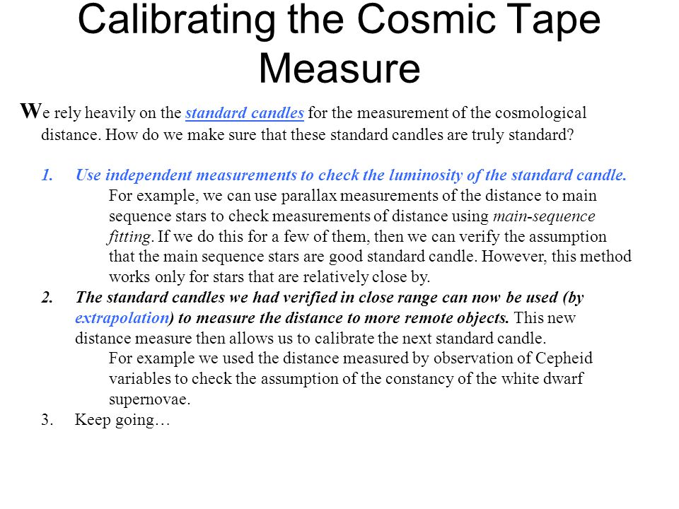 Calibrating the Cosmic Tape Measure