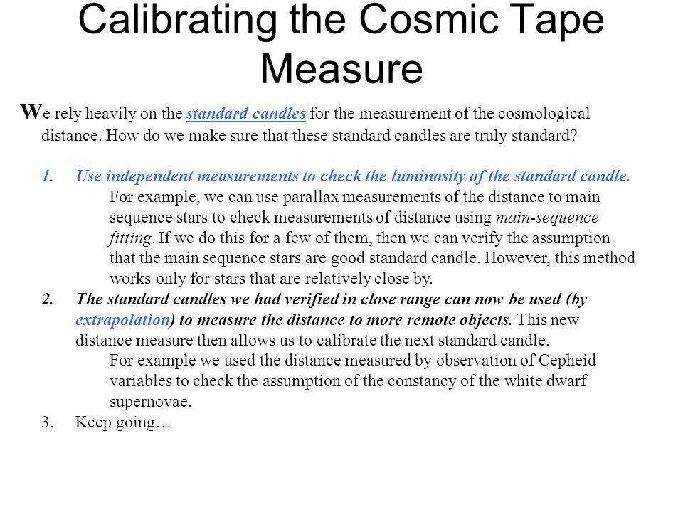 Calibrating the Cosmic Tape Measure