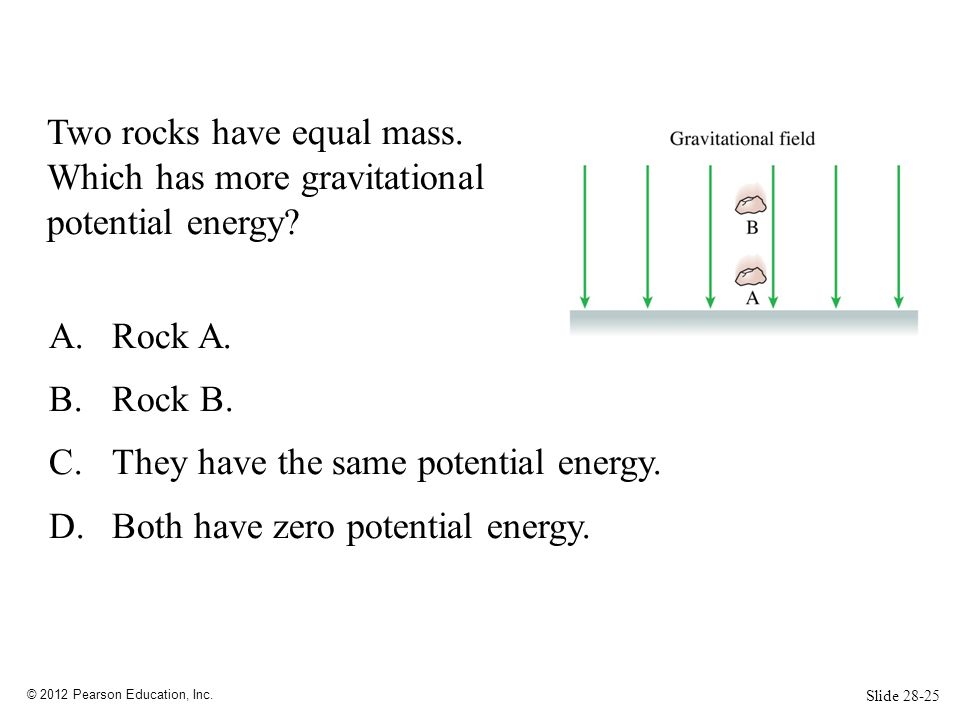 They have the same potential energy. Both have zero potential energy.