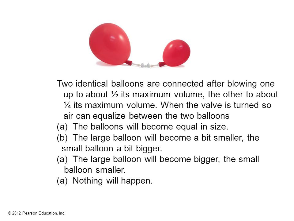The smaller balloon empties into The bigger one.