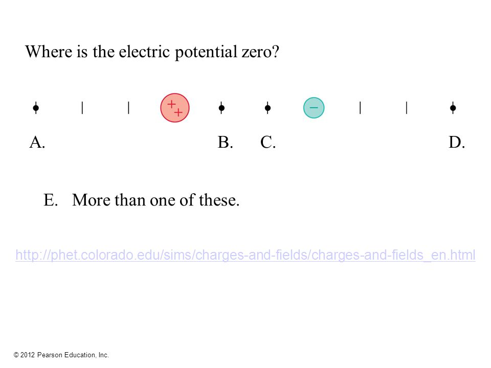 how to find where the electric potential is zero