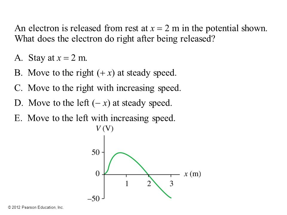 Move to the right ( x) at steady speed.