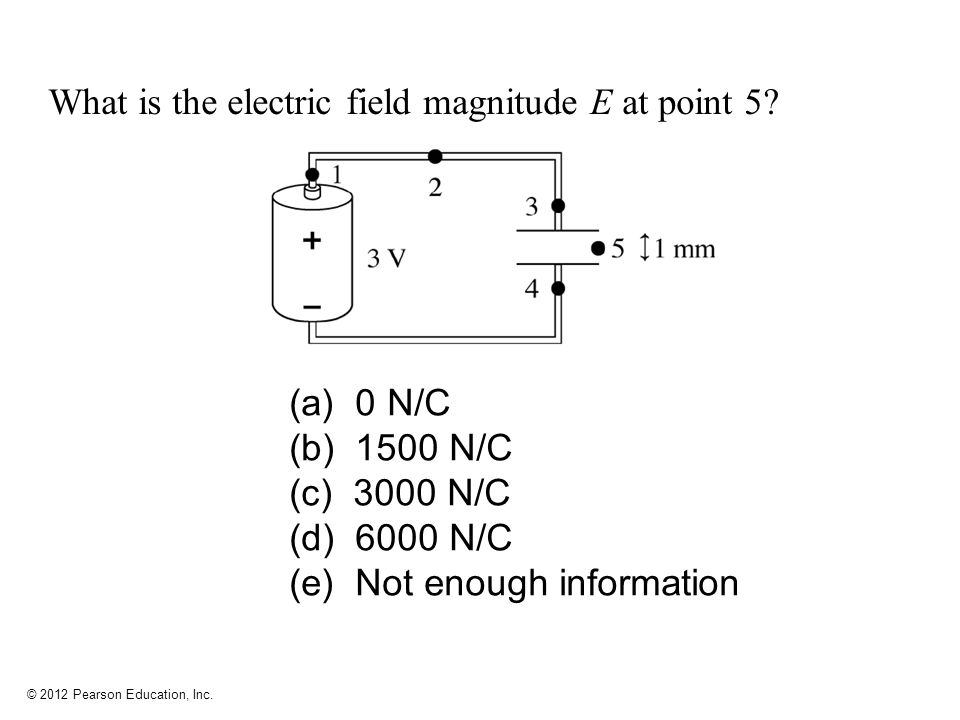 What is the electric field magnitude E at point 5