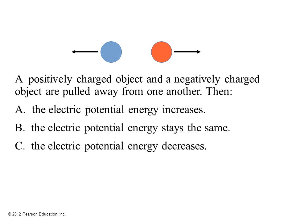 the electric potential energy increases.