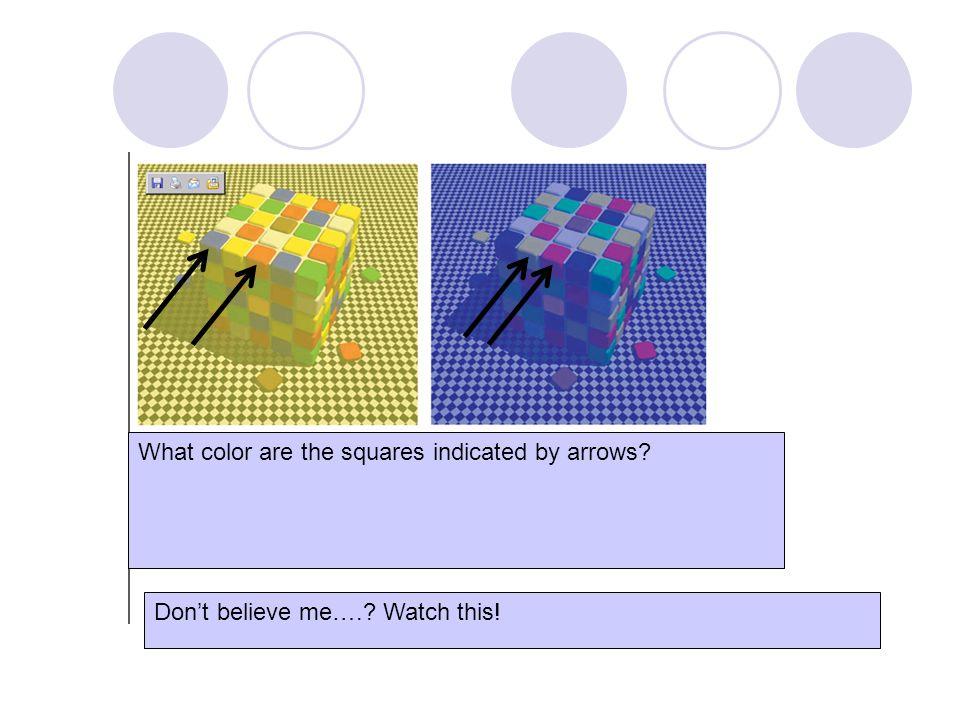 What color are the squares indicated by arrows