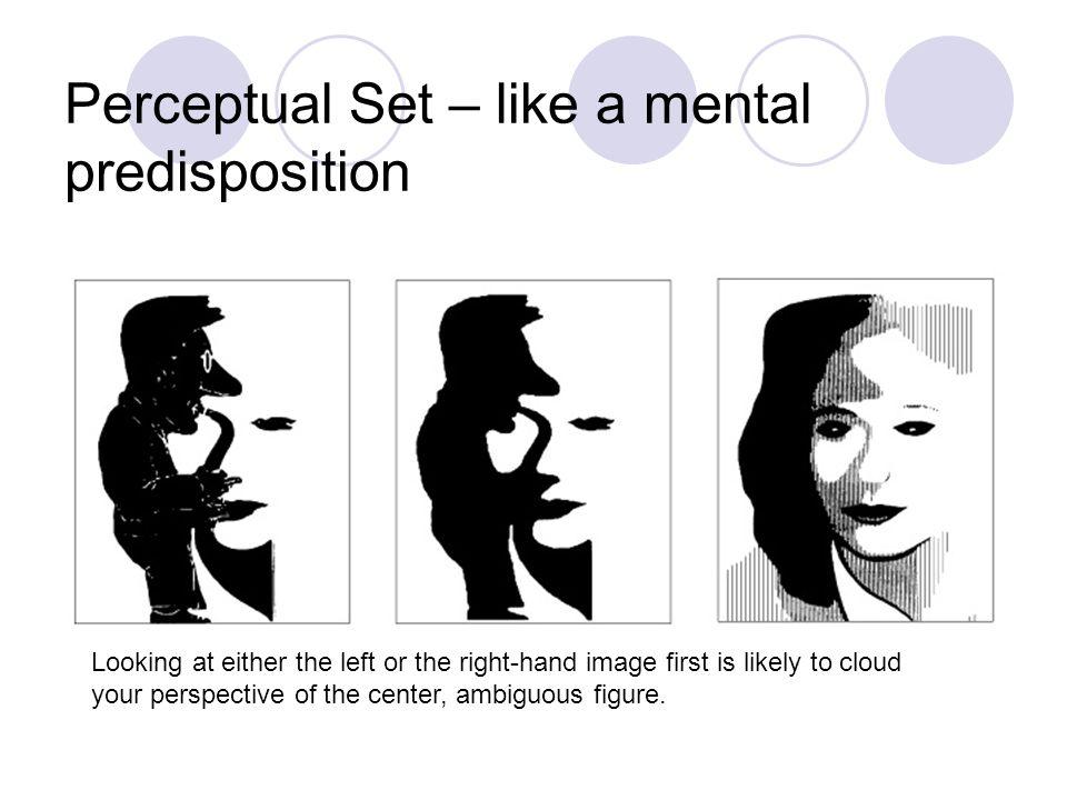 Perceptual Set – like a mental predisposition