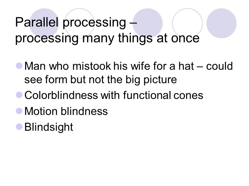 Parallel processing – processing many things at once