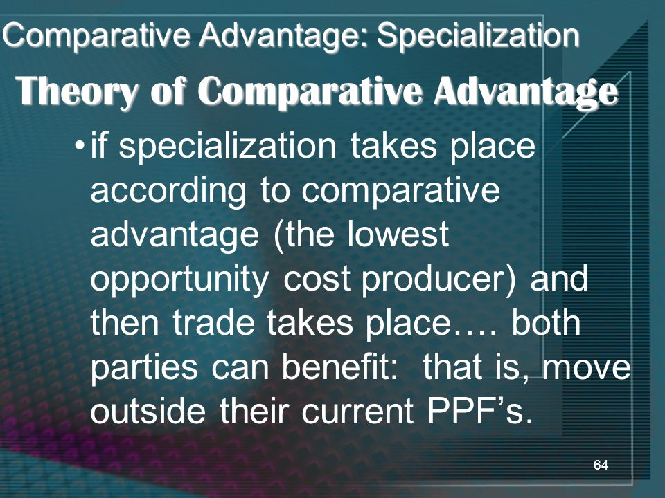 Comparative Advantage