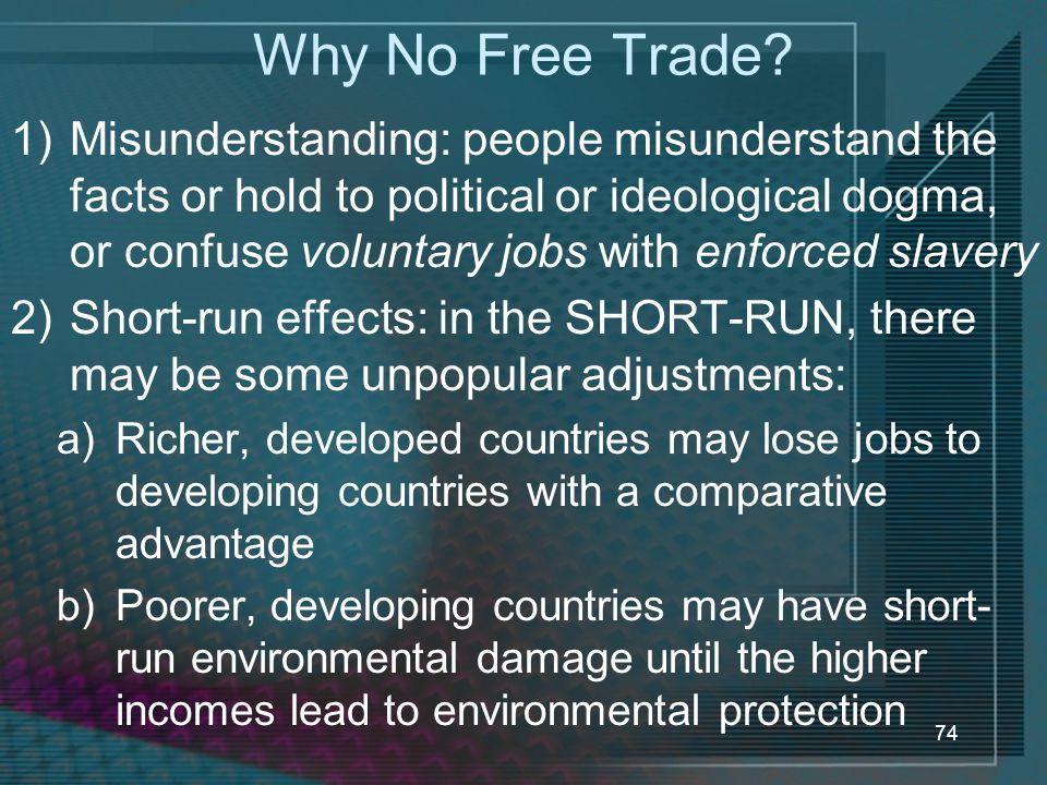 Why No Free Trade