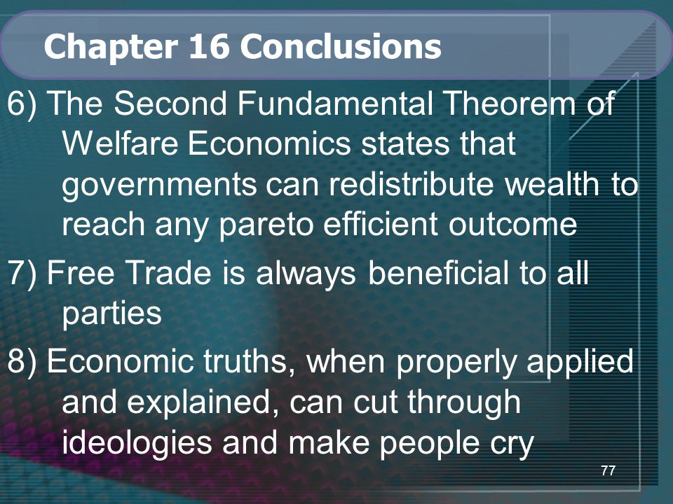 Chapter 16 Conclusions