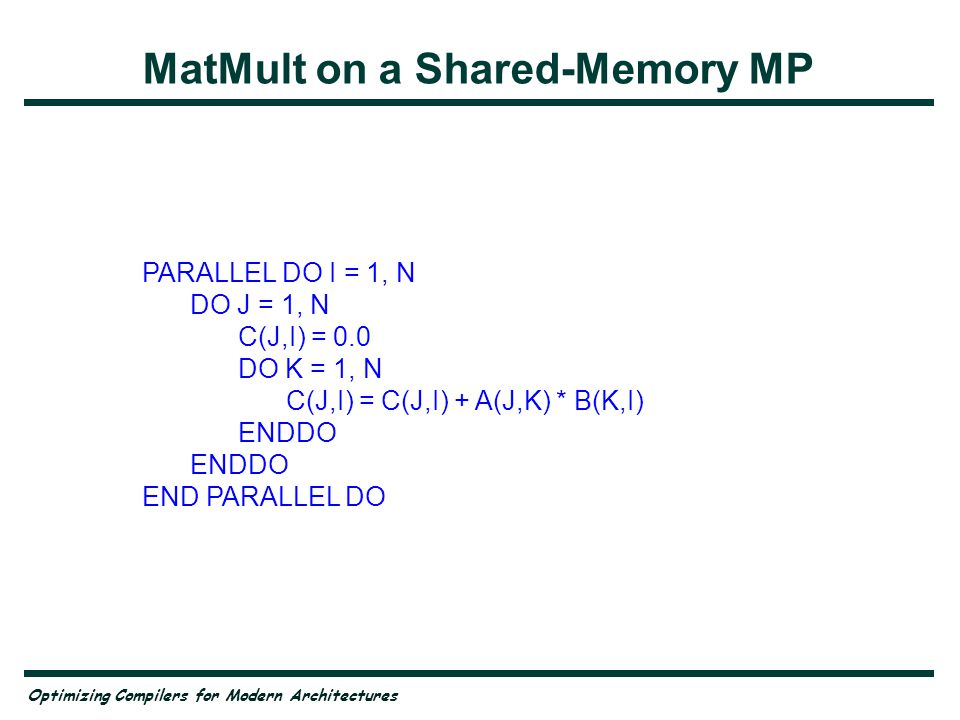 MatMult on a Shared-Memory MP