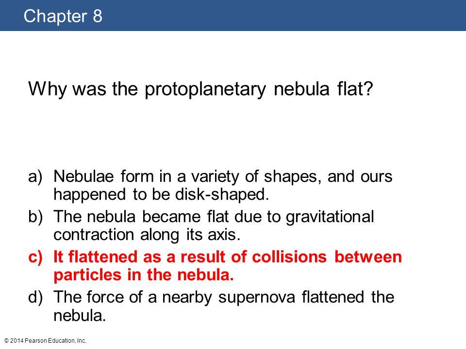 Why was the protoplanetary nebula flat