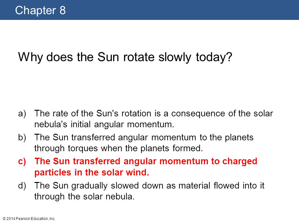 Why does the Sun rotate slowly today