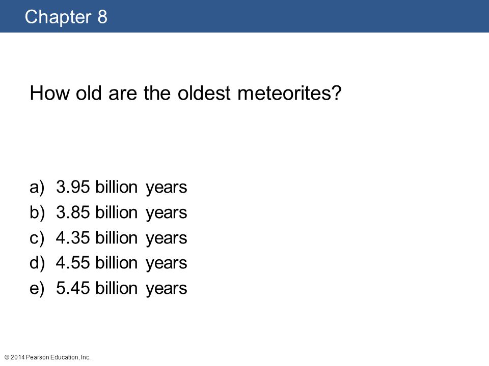 How old are the oldest meteorites
