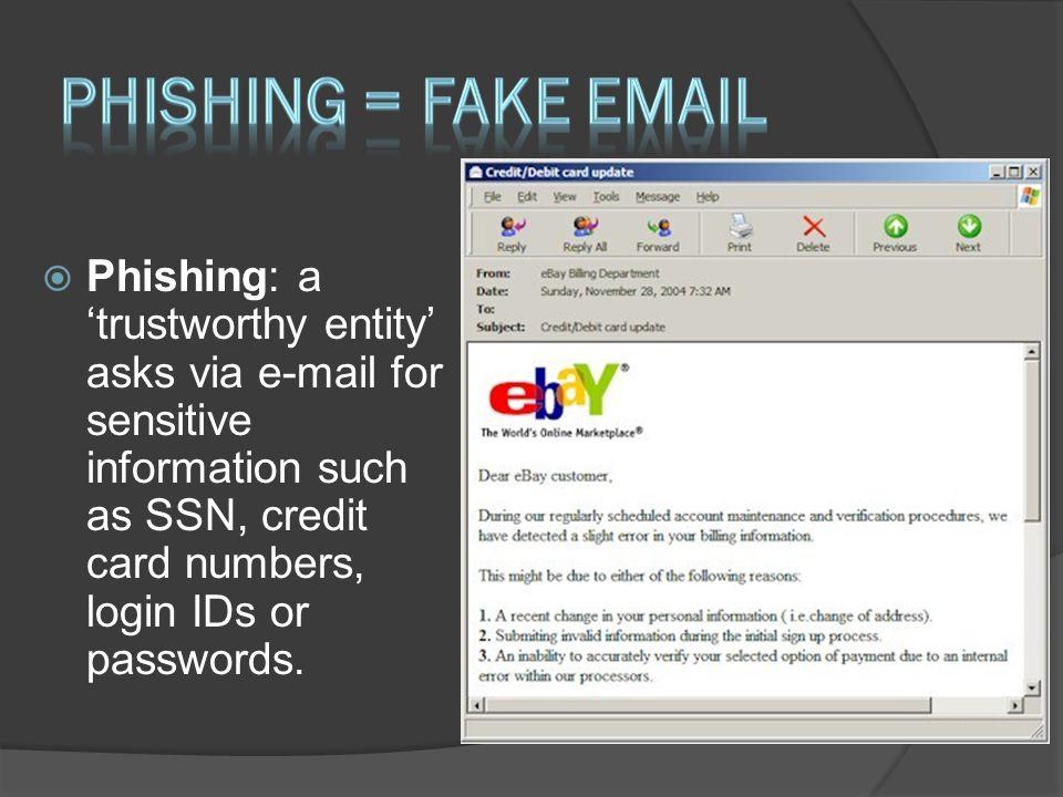 Phishing = Fake Email