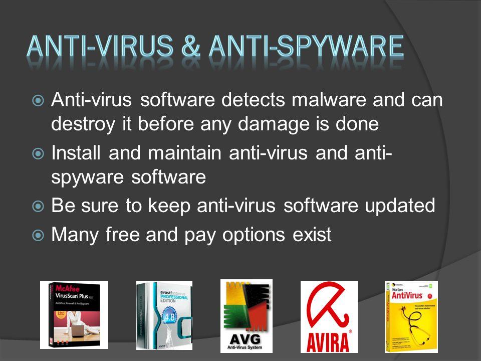 Anti-virus & anti-spyware