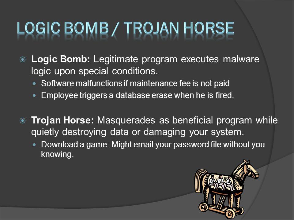 Logic bomb / trojan horse