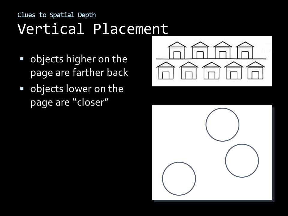 Clues to Spatial Depth Vertical Placement