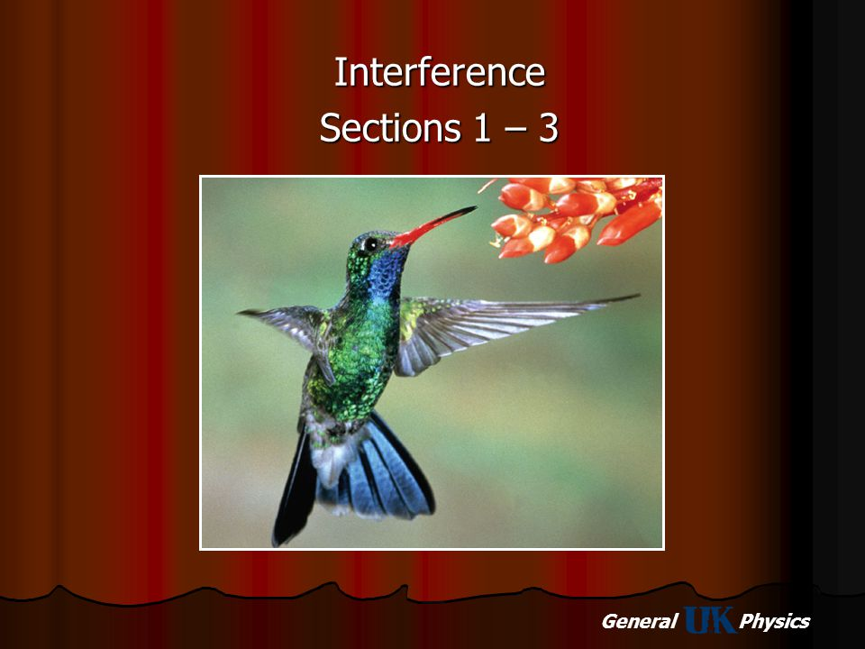 Interference Sections 1 – 3
