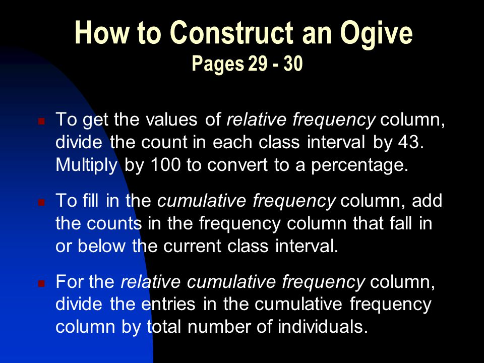 How to Construct an Ogive Pages 29 - 30