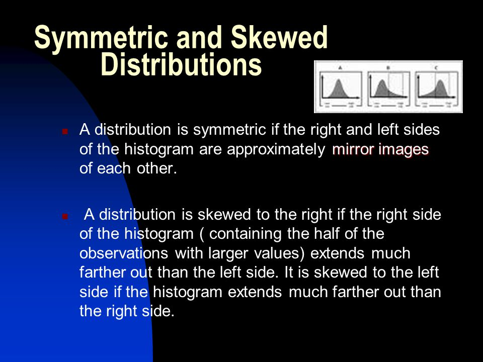 Symmetric and Skewed Distributions