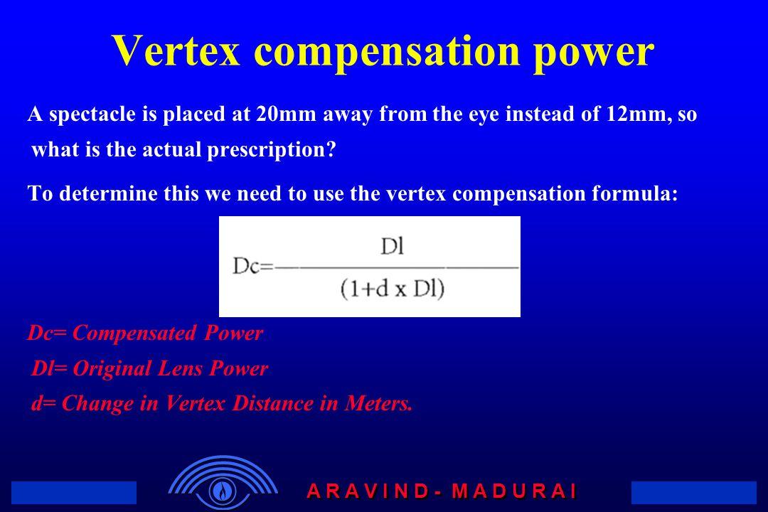 Vertex compensation power