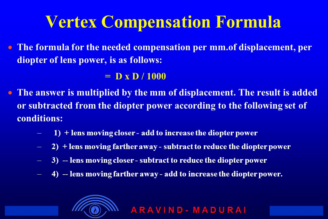 Vertex Compensation Formula