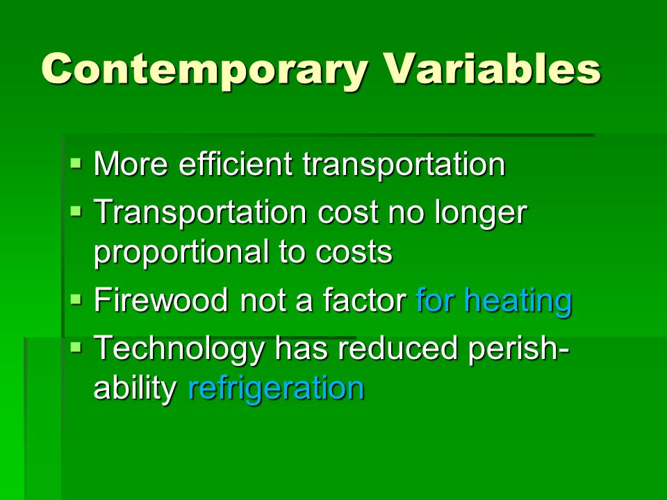 Contemporary Variables