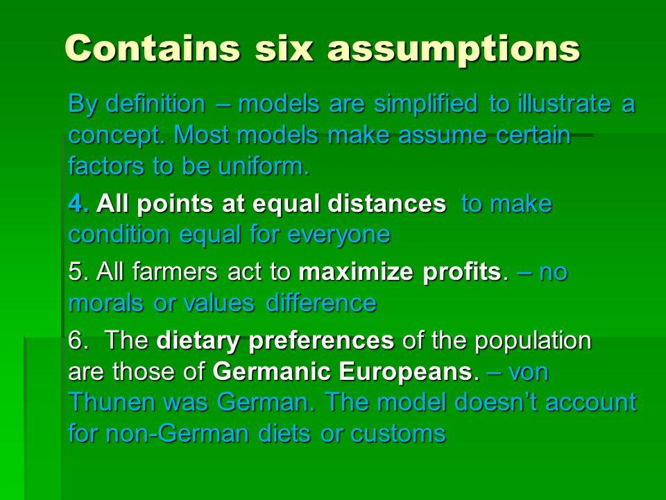 Contains six assumptions