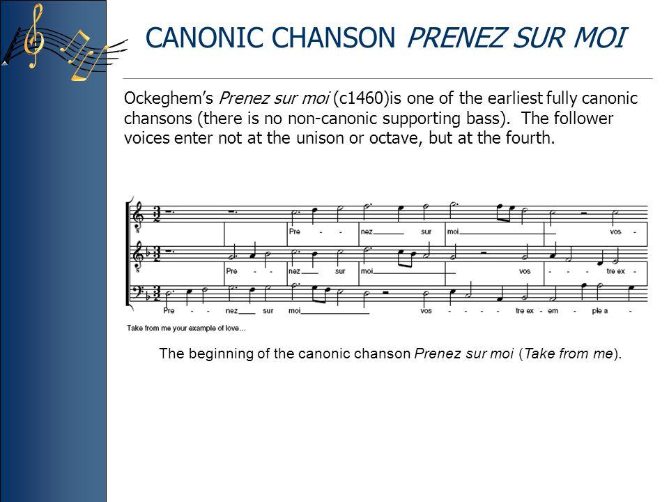 CANONIC CHANSON PRENEZ SUR MOI
