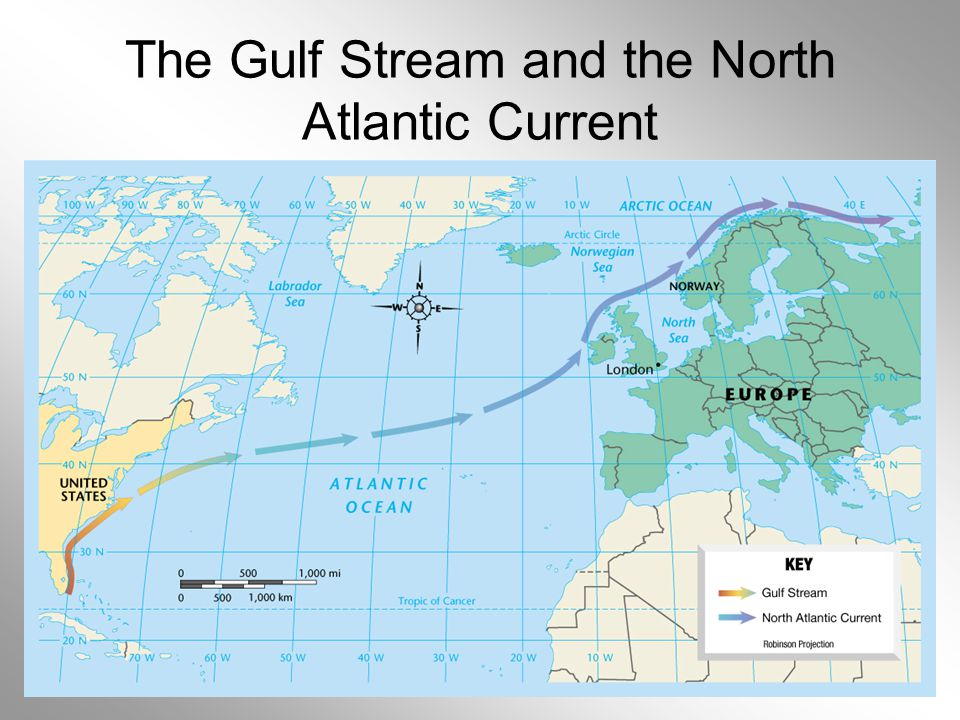 The Gulf Stream and the North Atlantic Current