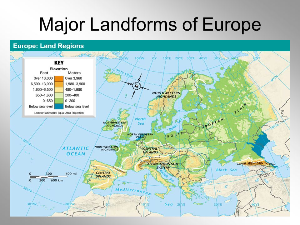 Major Landforms of Europe