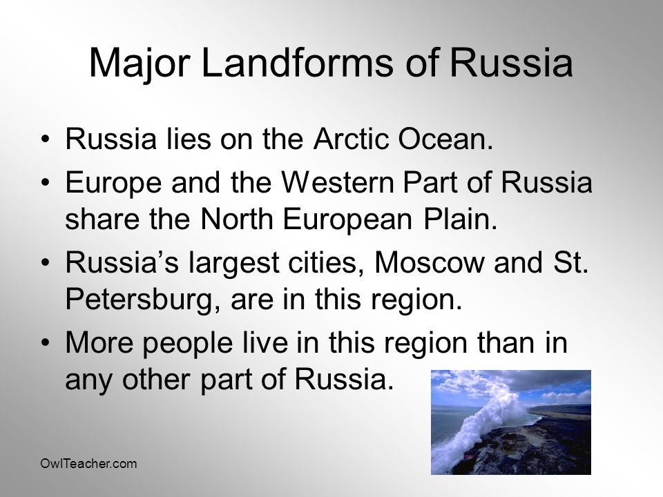 Major Landforms of Russia