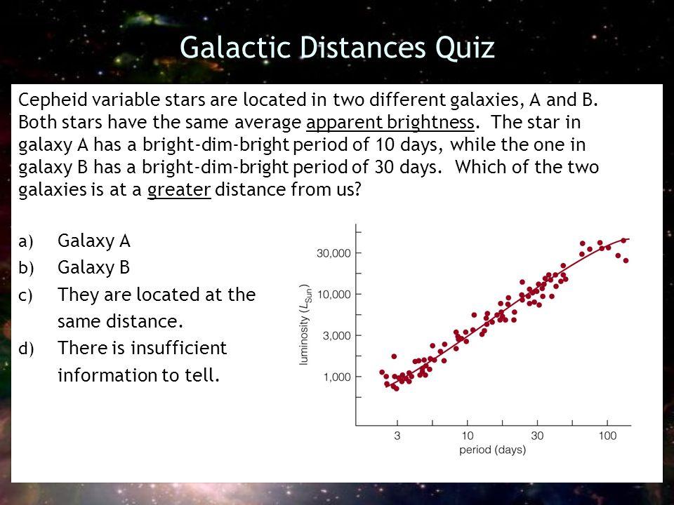 Galactic Distances Quiz