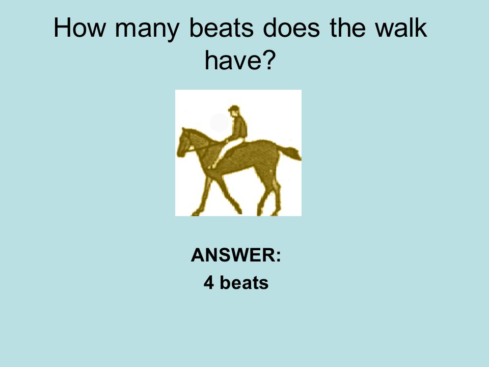 How many beats does the walk have