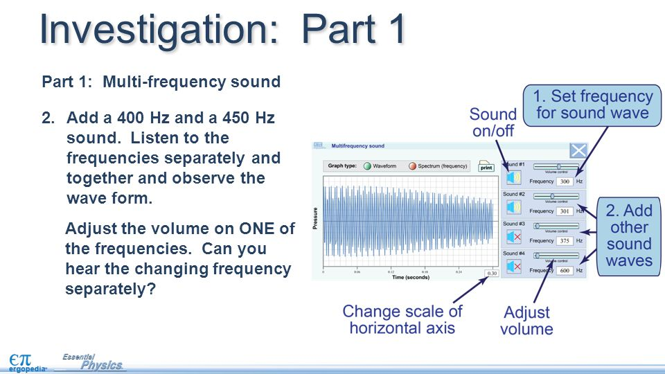 Investigation: Part 1 Part 1: Multi-frequency sound