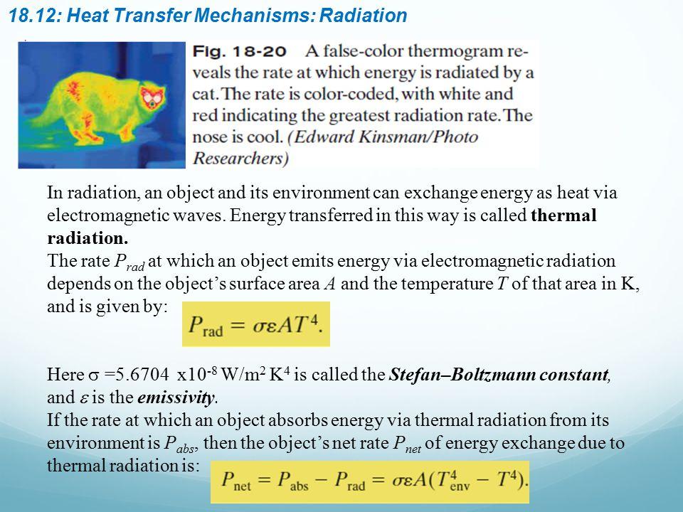 18.12: Heat Transfer Mechanisms: Radiation