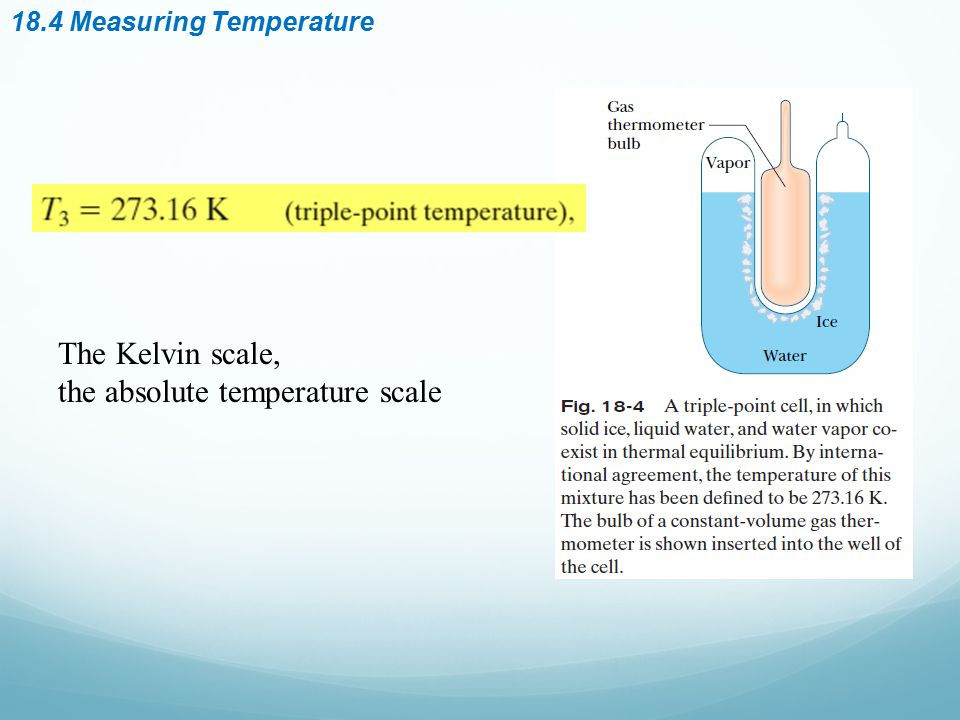 the absolute temperature scale