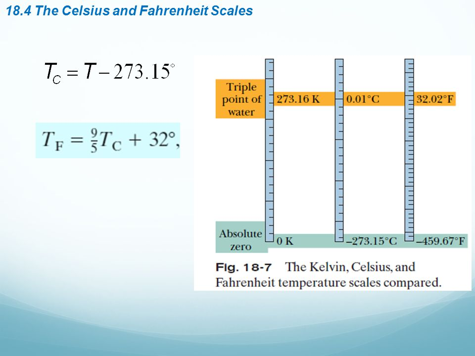 18.4 The Celsius and Fahrenheit Scales