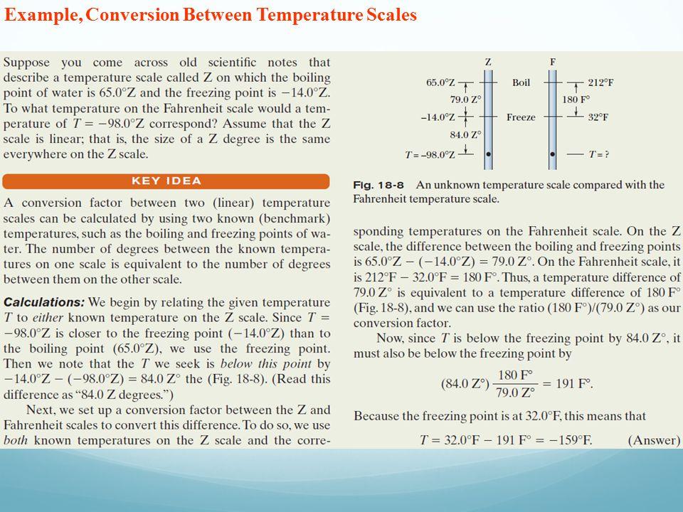 Example, Conversion Between Temperature Scales
