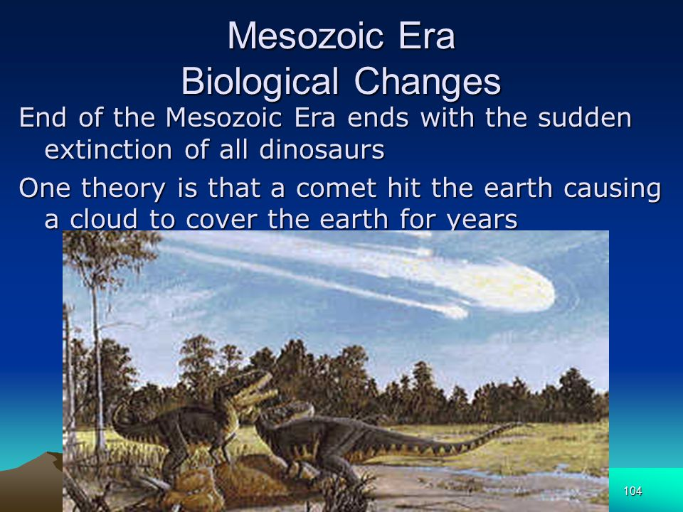 Mesozoic Era Biological Changes