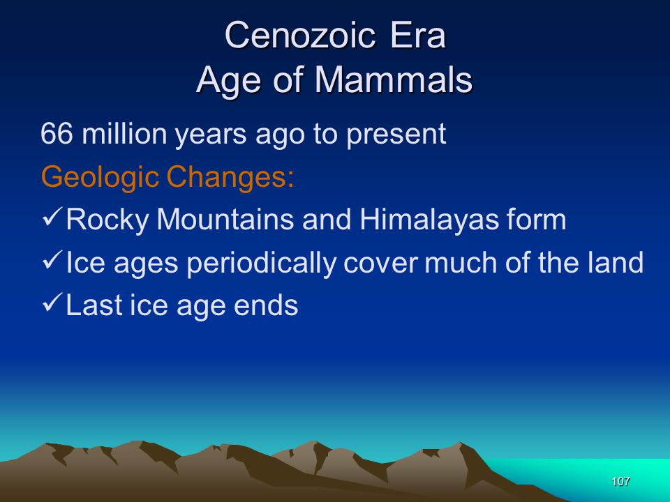 Cenozoic Era Age of Mammals
