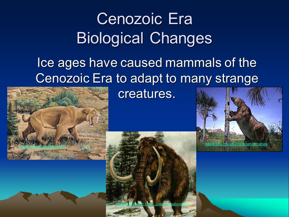 Cenozoic Era Biological Changes