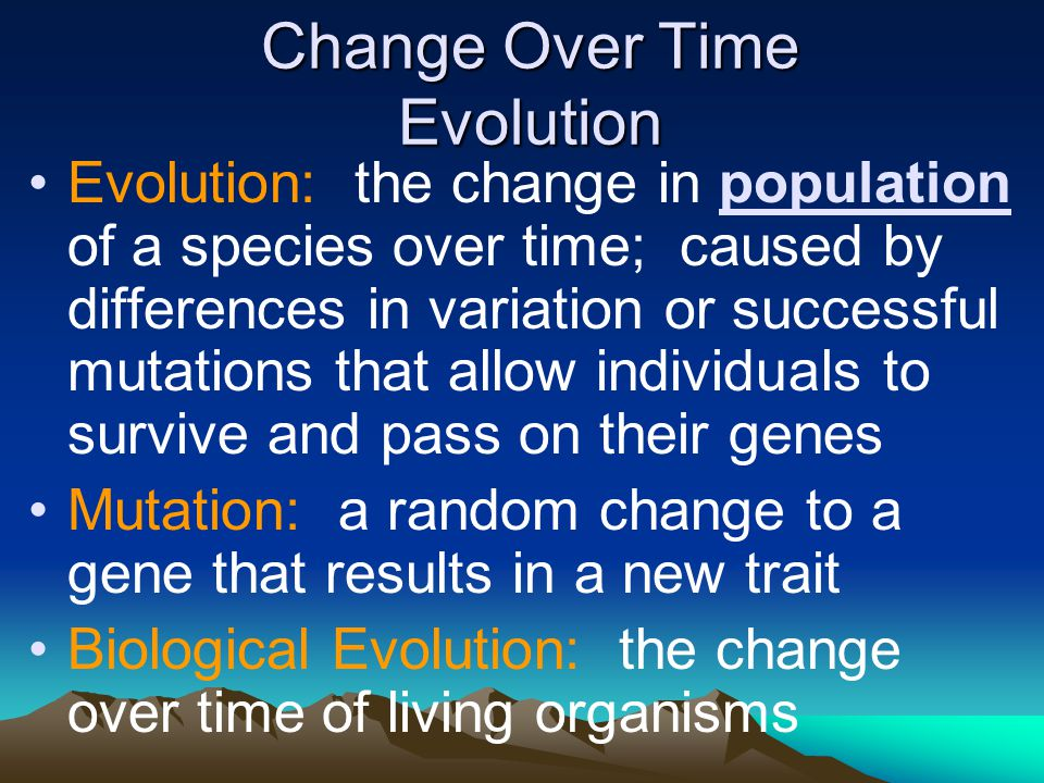 Change Over Time Evolution