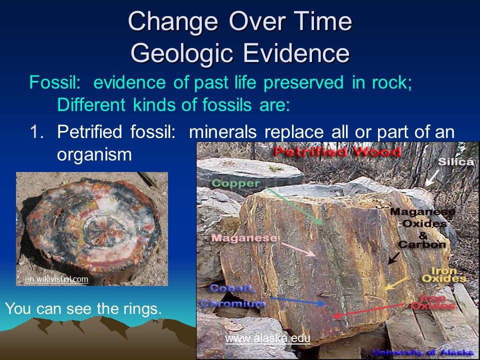 Change Over Time Geologic Evidence