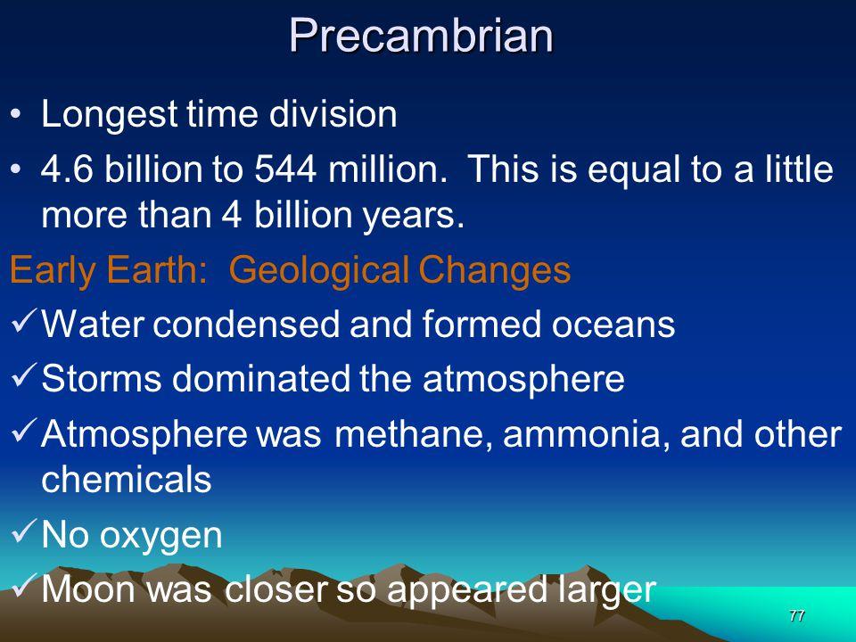 Precambrian Longest time division