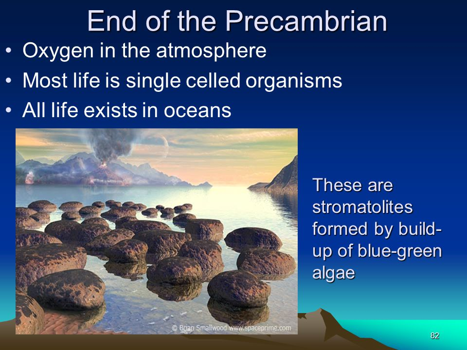 End of the Precambrian Oxygen in the atmosphere
